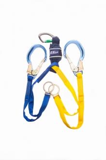 1245556 Shock Absorbing Lanyards - EZ-Stop™ Tie-Back (Scaffolding Hook - Twin Leg 1.65m)