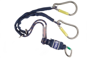 1224569 Twin Leg Shock Absorbing Lanyards - EZ-Stop™ Tie-Back (Pear Hook - Twin Leg 1.65m)