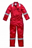 Lined Flame Retardant Coverall with Hi-Vis Stripes