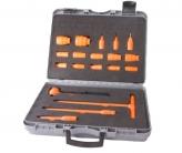 "130S04 Insulated 20 Piece Socket Set, 1/2"" Square Drive 6pt 10-32mm Sockets, Reversible Ratchet, T Bar Lever + Hard Case"