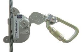 6160030 Lad-Saf Traveller X2 with Zinc Plated Steel karabiner