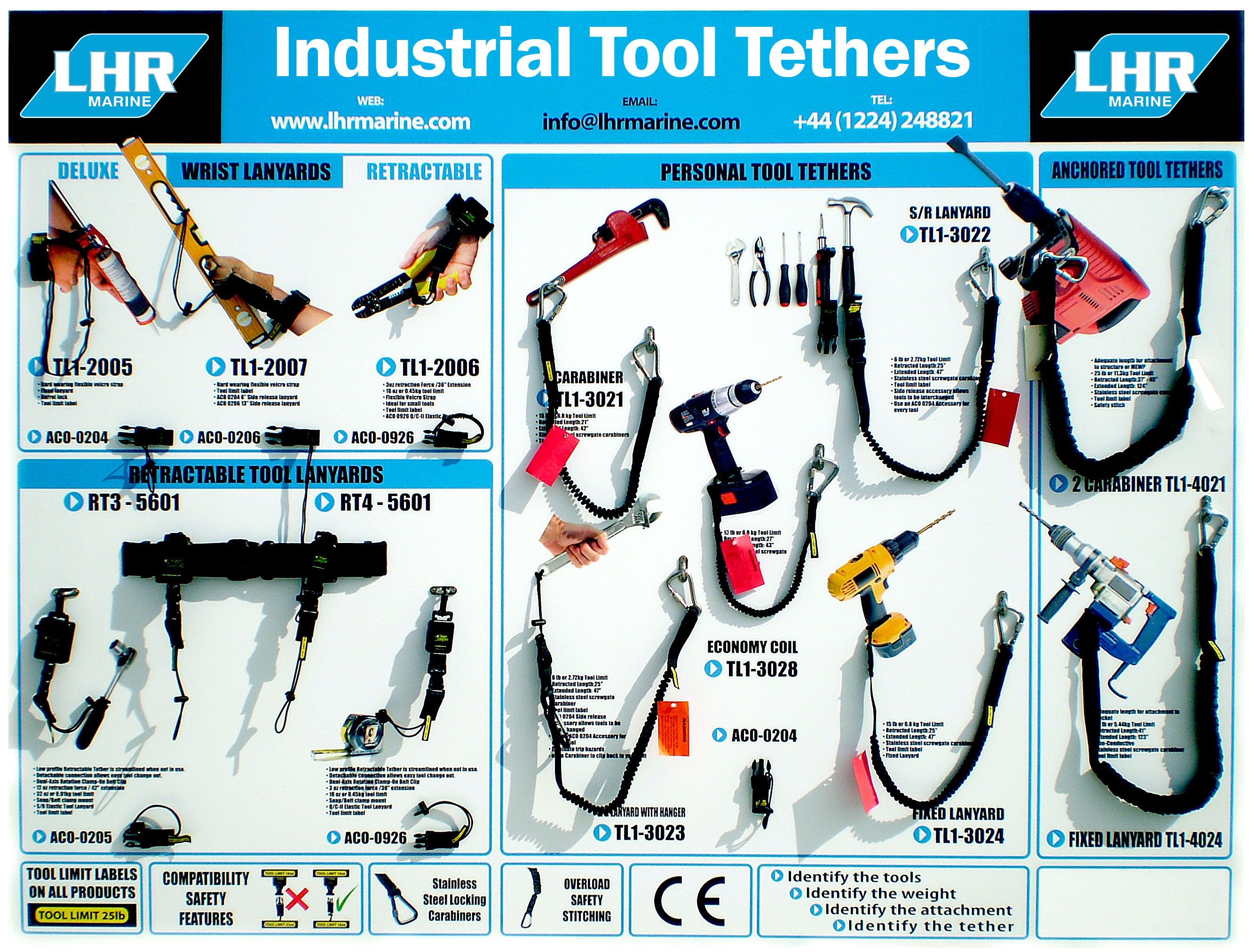 LHR Marine - Industrial Tool Tether Board